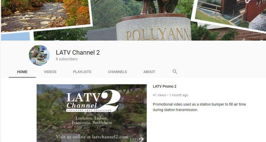 image of channel page on youtube