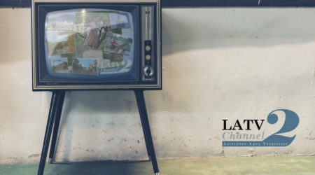 old tv with channel 2 logo