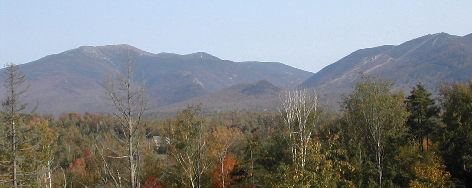 mountains in the fall